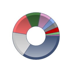 Regional allocation pie chart
