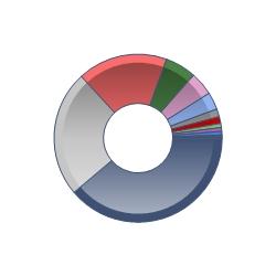 Regional allocation pie chart